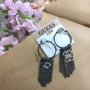 NWT Guess silver earrings